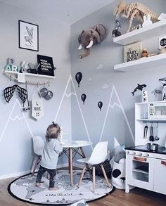 How cool is this little boy's room by @erika_bader  OYOY The World rug available in our online store. Just a little reminder, our 15% OFF offer ends midnight tomorrow, use code: ES15   .  #kidsroom #kidsroomdecor #kidsinterior #nordichome #nordicinspiration