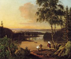 """View from Kaukolan Harju"" 1850 Magnus von Wright Finland, Around The Worlds, Paintings, Artist, Paint, Painting Art, Painting, Drawings, Amen"
