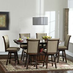Glenbrook 7-piece Counter Height Dining Set with Swivel Chairs