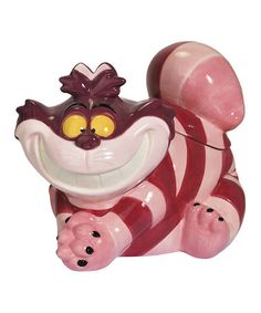 Buy Alice in Wonderland Cheshire Cat Cookie Jar online and save! Say cheese. Now, have a cookie! The Alice in Wonderland Cheshire Cat Cookie Jar is grounded in the timeless Walt Disney movie Alice in Wonderla. Cat Cookie Jar, Cat Cookies, Ceramic Cookie Jar, Ceramic Jars, Cookies Et Biscuits, Cookie Jars, Cookie Containers, Cookie Monster, Storage Containers