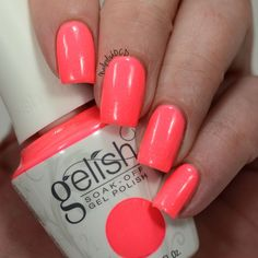 Next, I have Me, Myself-ie and I from @gelish_official A gorgeous neon coral with silver sparkles throughout. 3 coats plus foundation and top coat all from Gelish. I stamped some hibiscus flowers over it so swipe to see the art shot. Provided for review from @preendotme as part of the VIP program. #gelish_official #preendotme #prsample #selfiereadynails #nailsofinstagram #nailstagram #nailsofig #ignails #instamani #instanails #nailartaddict #nailartoohlala #manicure #mani #mynails…