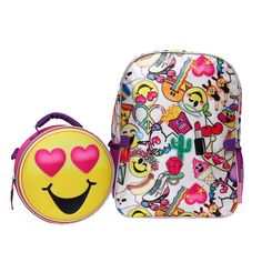 d849a28600 Kids Emoji Backpack   Lunch Tote Set