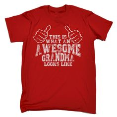 123t USA Men's This Is What An Awesome Grandma Looks Like Funny T-Shirt