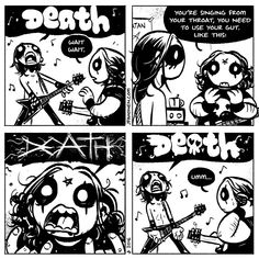 awesome 35 Hard To Miss Funny Images Dark Comics, Short Comics, Cute Comics, Funny Comics, Black Metal, Summoning Demons, Goth Memes, Animated Man, Web Comics