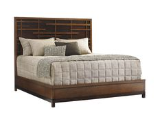 Shop for Tommy Bahama Home Shanghai Panel Bed, King, and other Bedroom Beds at Royal Furniture and Design in Key West, Marathon and Key Largo, FL. Headboard features Asian fretwork design over a dark walnut back panel; platform footboard and side rails. Panel Headboard, Panel Bed, Queen Bedroom, Home Bedroom, Bedrooms, Master Bedroom, Bedroom Sets, Hardwood Furniture, Bedroom Furniture