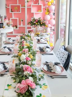 bright Galentine's Day party via One Stylish Party