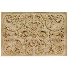 Soci Tile SSGI-1221 The Renee Plaque Ivory. Kitchen Backsplash Medallion or Bathroom Wall Accent