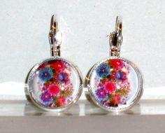 Ohrringe - Ohrringe Blume Schmuck Ohrschmuck Damen Glas - ein Designerstück von ausgefallene-Ohrringe bei DaWanda
