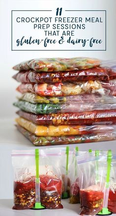 A lot of people have asked me for allergy-friendly crockpot freezer meals, so I decided to pull together all of the freezer meal prep sessions that I've done that are naturally gluten-free and dairy-f