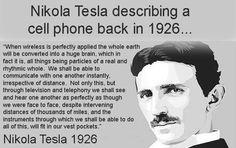 nikola tesla - 1926 - cell phone..