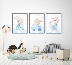 Bunny Nursery, Nursery Art, Baby Room Design, Baby Room Decor, Baby Posters, Baby Cartoon, Baby Art, Painting For Kids, Baby Love