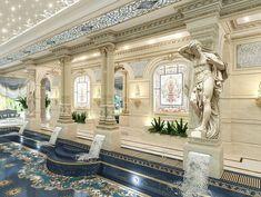 Piscina Interior, Spa Interior, Luxury Homes Interior, Home Interior Design, Luxury Swimming Pools, Luxury Pools, Minimal House Design, Le Palais, Villa Design
