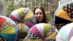 She Makes The Coolest Quilted Pin Wheel Pillows That Will Make An Awesome Gift For The Holidays! | DIY Joy Projects and Crafts Ideas