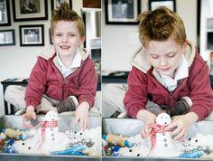 DIY Bastelideen für Weihnachtsbasteln mit Kindern, Geschenke selber machen, Kunstschnee herstellen aus Natron und Haarbalsam