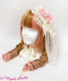 Lolibrary | Angelic Pretty - Hair accessories - Rose Heart Canotier