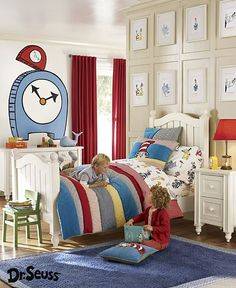 "Little Boys Bedroom ~""Little boys can summon Dr. Seuss in their very own room inspired by the ..."""