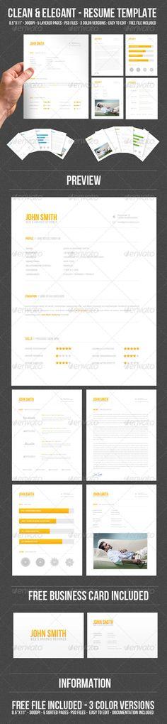 4-Piece Resume - visual resume template