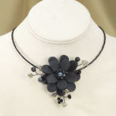 $34.95 Handcrafted Flower Necklace