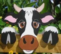 Kuh Gretel Kühe Milchkuh;Milch,°ZAUNGUCKER°ZAUNHOCKER° Garten ZAUN FIGUR Balkon Figur Deko - Bild vergrößern