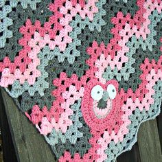 Chevron Crochet Baby Blanket Crochet Owl Blanket by puddintoes