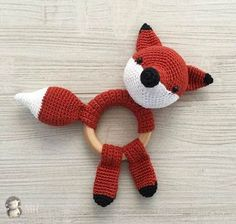 Zorrito amigurumi Crochet Pig, Giraffe Crochet, Crochet Octopus, Crochet Baby Toys, Love Crochet, Crochet Gifts, Diy Crochet, Crochet Flowers, Patron Crochet