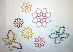 Tuto fleurs en perles de rocailles