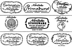 Noritake - History & Backstamps