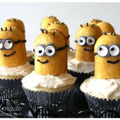 Despicable Me Cupcakes are a Villainous Treat - foodista.com - http://www.foodista.com/blog/2012/01/18/despicable-me-cupcakes-are-a-villainous-treat#