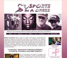 Sports in a Dress, began in 1996, as a sports writing column, complimenting the woman's perspective, of all sports. Our goal is to strengthen, the family by empowering, women and children, through sporting events and activities, benefiting Breast Cancer Research and Awareness. http://sportsinadress.com/   ***Design by http://www.fineartandgraphicsdesign.com