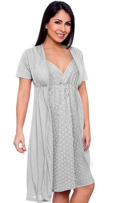 080be1ee8 jogo de camisola com robe gestante amamentação 026
