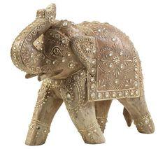 Orientalischer Deko-Elefant aus Mangoholz mit detailliierten Verzierungen Spirit Of Summer, Lion Sculpture, Statue, Art, African, Embellishments, Home Decor Accessories, Art Background, Kunst