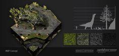 "Concept art new map ""Green Volcano"" 1  DinoStorm.com"