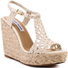 Shop Women's Steve Madden Wedges on Lyst. Track over 998 Steve Madden Wedges for stock and sale updates. Cute Shoes, Me Too Shoes, Wedge Heels, High Heels, Wedge Pump, Zapatos Shoes, Cute Wedges, Crazy Shoes, Mode Style