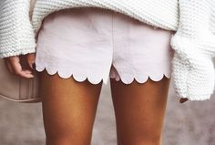 scallop shorts & sweater