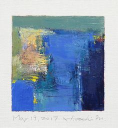 May 19 2017  Original Abstract Oil Painting  9x9 painting
