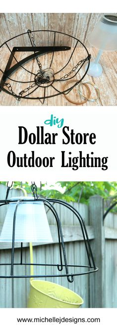 I used some dollar store hanging planters and solar lights to create some fun do., - I used some dollar store hanging planters and solar lights to create some fun do…, - Garden Lighting Diy, Backyard Lighting, Diy Garden Decor, Outdoor Lighting, Lighting Ideas, Garden Ideas, Patio Ideas, Outdoor Ideas, Outdoor Decor