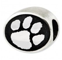 Reflections Collection- Sterling Silver Paw Print Bead