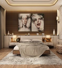 Modern Master Bedroom With Living Area - Qatar on Behance Modern Master Bedroom, Master Bedroom Design, Modern Room, Home Decor Bedroom, Luxury Bedroom Design, Decor Interior Design, Modern Luxury Bedroom, Condo Design, Bed Design