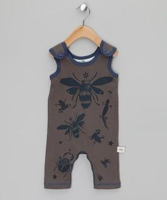 Take a look at this Brown Doug Woodland Shortalls - Infant by Little Shrimp on #zulily today!