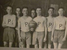 Antique Vintage Original HIGH SCHOOL Basketball Team by crownhill