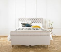 The bed incarnation of Blighty's landmark chesterfield sofa is curved to perfection. Every detail of this sophisticated bed has been perfected by our Yorkshire craftsmen - paying that extra attention to the deep buttoned tufting and the elegant profile. A fine piece
