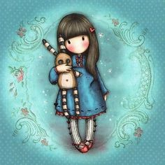 Carte Gorjuss Hush Little Bunny Vintage
