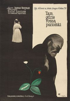"Movie Poster of the Week: ""Wild Strawberries"" and the Posters of Jerzy Flisak"