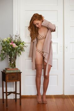 Silk Knit Thigh Highs by Maria La Rosa with Stella McCartney Lingerie, shot for Lille Boutique