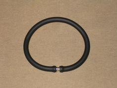 Mens Solid Black Rubber Wristband with Magnetic by Anchulee, $13.00