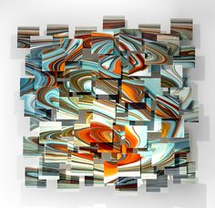 Groovy by Karo Martirosyan: Art Glass Wall Sculpture available at www.artfulhome.com