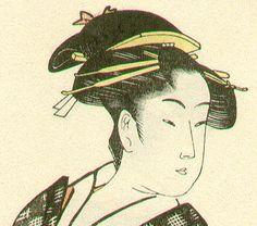 喜多川歌麿: Ohisa (front-back portrait) - Artelino