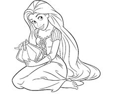 Sourire de Princesse Raiponce Coloriage Princesse Coloriage des Pages : KidsDrawing – Pages à colorier gratuit en ligne 5829  32