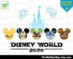 2019 Disney World Star Wars Fab 5 Castle Printable Iron On Transfer or Use as Clip Art, DIY Star War Shirt Adult & Child Size Mickey Heads Mickey Y Minnie, Mickey Head, Disney Diy, Disney Trips, Disney Cruise, Iron On Transfer, Transfer Paper, Star Wars Crafts, Disney World Shirts
