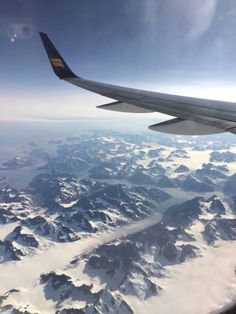 Flying over Greenland | Iceland Air plane